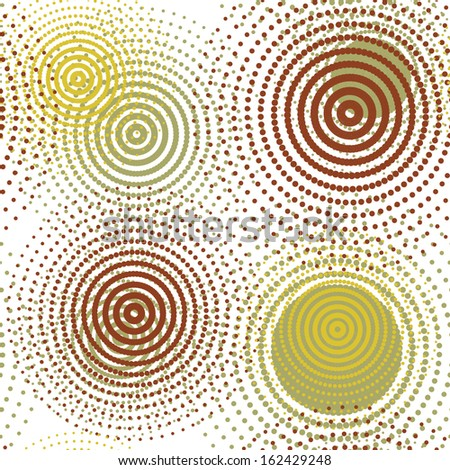 Seamless  pattern with circles from dots - stock vector
