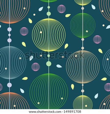 Seamless pattern with circles in bright colors; china decorative spheres