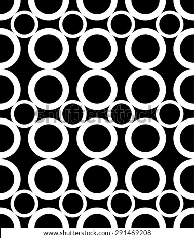 Seamless pattern with circles. Modern stylish texture. Vector background. Eps 10 - stock vector