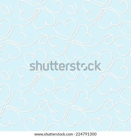 seamless pattern with clover leaves - stock vector