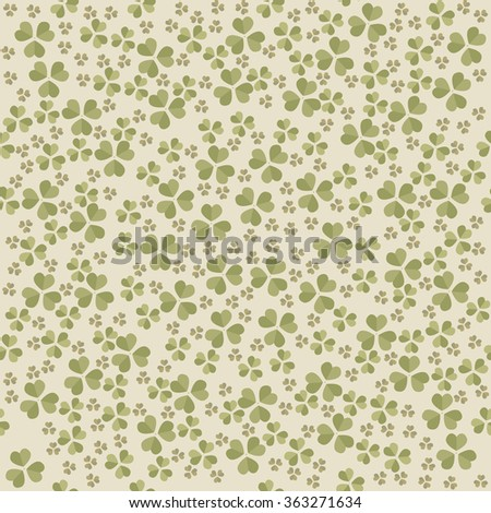 Seamless pattern with Clover leaves for St. Patrick's day. Stylish template can be used for wallpaper, linen, tile, design fabric, card, cover and more creative designs. - stock vector