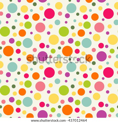 Seamless pattern with colorful circles. Bright background - stock vector