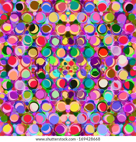 Seamless pattern with colorful grunge circles - stock vector