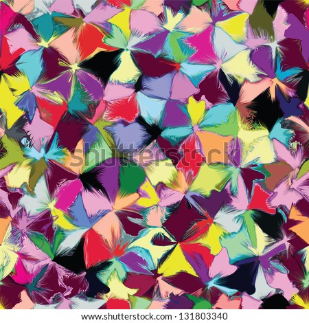 Seamless pattern with colorful grunge stains - stock vector