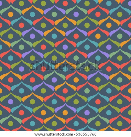Seamless Pattern with Colorful Triangle elements. Vector Background