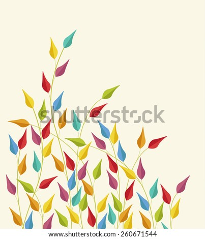 Seamless Pattern with coloured leaves vector illustration - stock vector