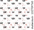 Seamless pattern with crowns. Vector illustration. - stock vector