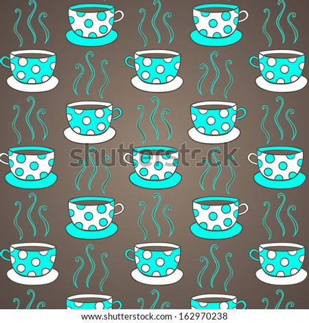 Seamless pattern with cups. - stock vector