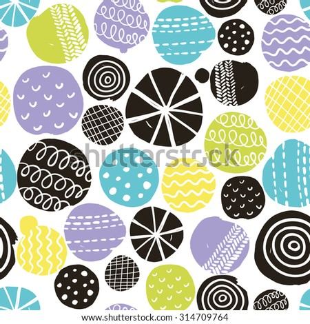 Seamless pattern with cute decoration. Vector repeated background. - stock vector