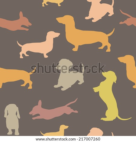 Seamless pattern with dog - stock vector