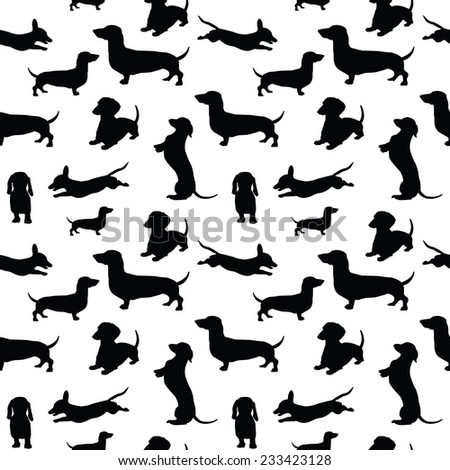 Seamless pattern with dogs - stock vector