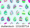 Seamless pattern with easter eggs.  + EPS8 vector file - stock photo