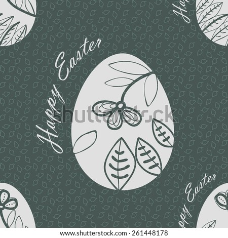 Seamless pattern with easter eggs. EPS10 vector file organized in layers for easy editing. - stock vector