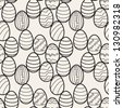 Seamless pattern with easter eggs. Graphic holiday print - stock photo