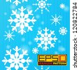 Seamless pattern with falling snowflakes. Eps 10 with transparency effect. - stock vector
