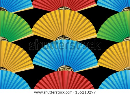 seamless pattern with fans