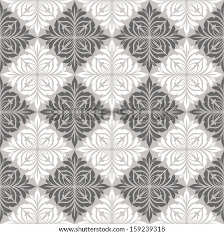 Seamless pattern with floral elements. - stock vector