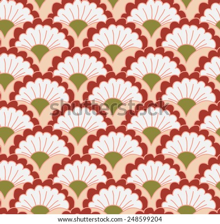 Seamless pattern with floral elements. Organic ornament. Vector repeating texture. - stock vector