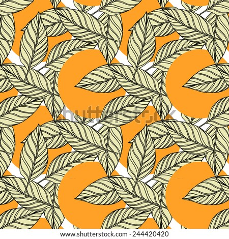 Seamless pattern with floral elements. Vector repeating texture. - stock vector