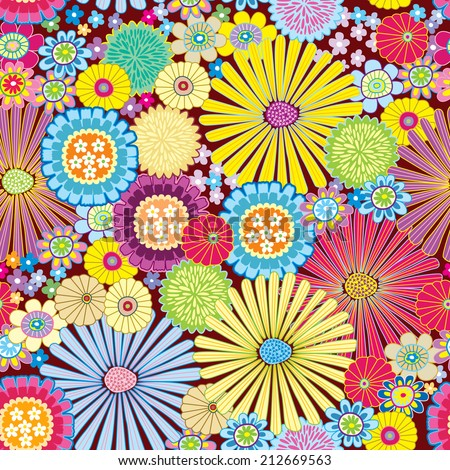 Seamless pattern with flower for design fabric,backgrounds, package, wrapping paper, covers, fashion
