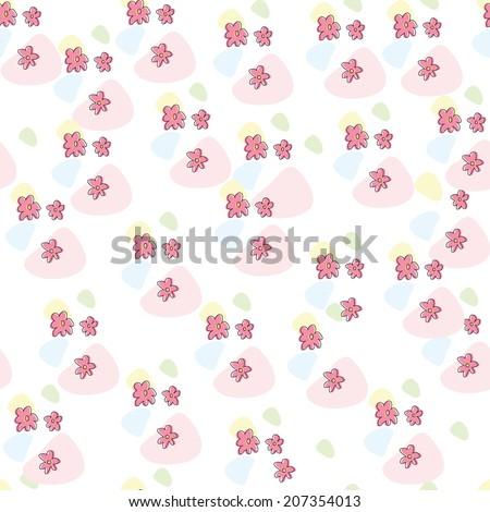 Seamless pattern with flowers. eps 8
