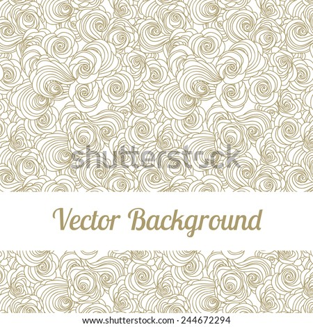 Seamless pattern with flowers. Vector repeating texture. - stock vector