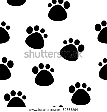 seamless pattern with footprint