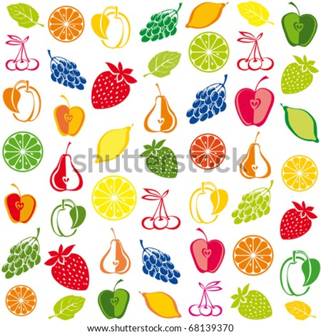seamless pattern with fruit