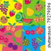 Seamless pattern with fruits. - stock vector