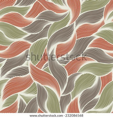 Seamless pattern with fur and hair. Vector colorful illustration.  - stock vector