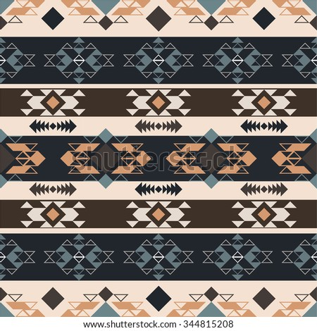 Seamless pattern with geometric elements - stock vector