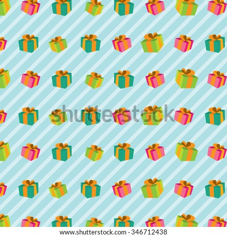 seamless pattern with gift boxes .seamless background with presents. vector illustration
