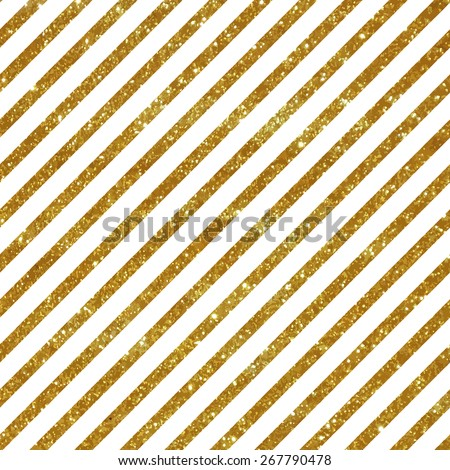 Seamless pattern with gold stripes - stock vector