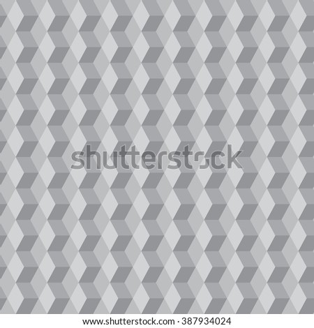 seamless pattern with gray cubes - stock vector