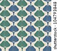 seamless pattern with green ginkgo leaves - stock vector