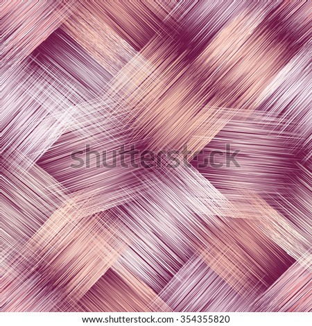 Seamless pattern with grunge striped square elements in pastel colors on violet background for web design - stock vector
