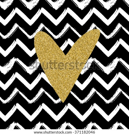 Seamless Pattern Hand Drawn Chevron Stripes Stock Vector 371182046