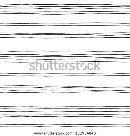 Seamless pattern with hand drawn lines. Vector illustration - stock vector