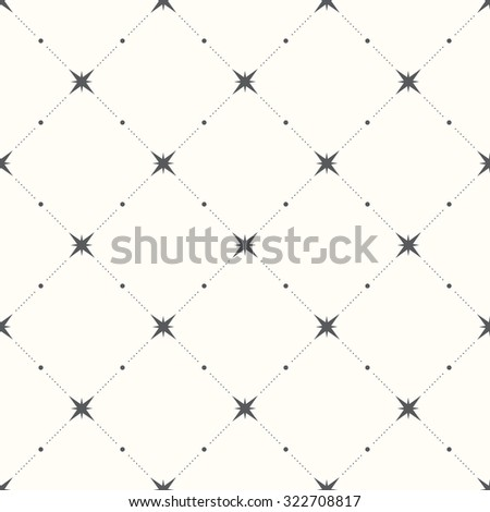Seamless pattern with hearts and stars. Vector background.