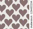 Seamless pattern with hearts pinstripe. Creative vector texture for the Valentine's Day - stock photo