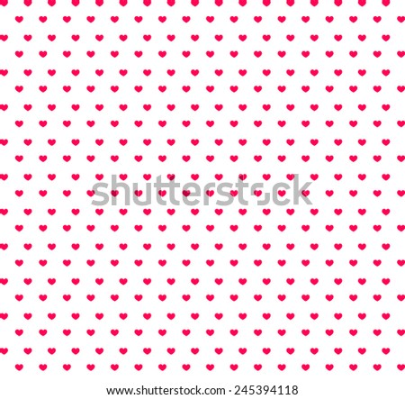 Seamless pattern with hearts. Valentines day background. Vector illustration - stock vector