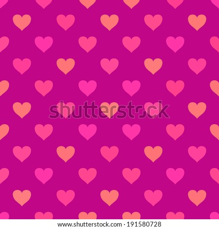 Seamless pattern with hearts. Vector background - stock vector