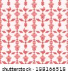 Seamless pattern with imitation of the cross stitch. Details of Nature in traditional Ukrainian embroidery. Abstract flowers, birds and geometric elements ornament. You can use it like pixel-art. EPS8 - stock vector