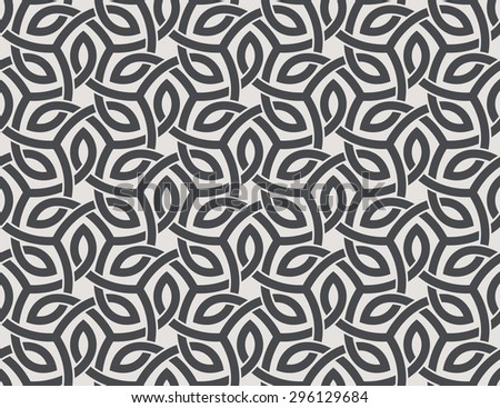 Seamless pattern with intersecting stripes. Curving overlapping bands - stock vector