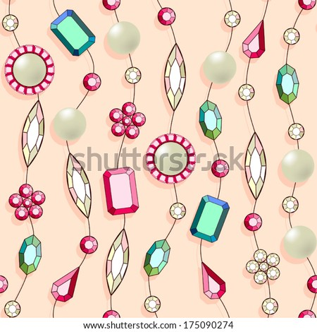 Seamless pattern with jewelry. - stock vector