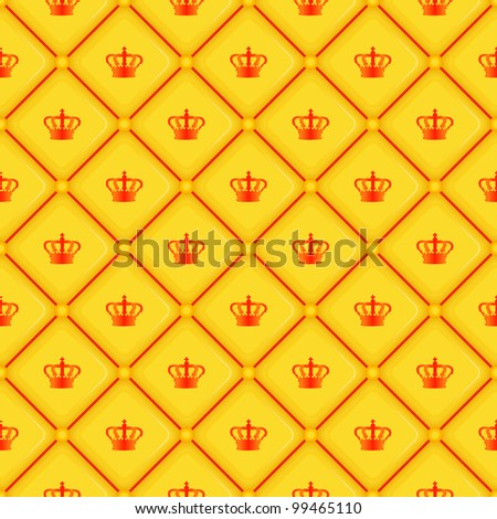 Seamless pattern with king crown symbol, vector, 10eps.