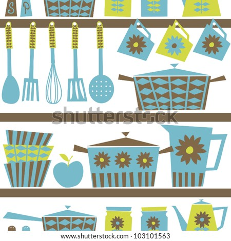 Retro style kitchen stock images royalty free images - Utensilios de cocina vintage ...