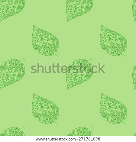 Seamless pattern with leaf - vector illustration - stock vector