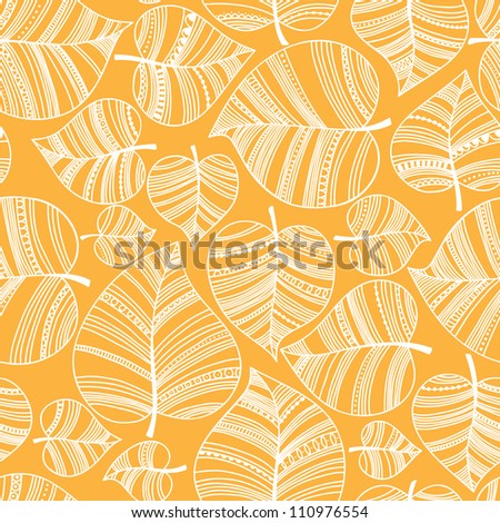 Seamless pattern with leafs. Autumn leaf background. - stock vector
