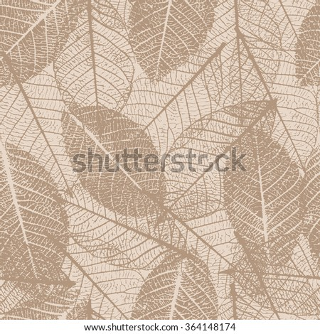 Seamless pattern with leafs prints.